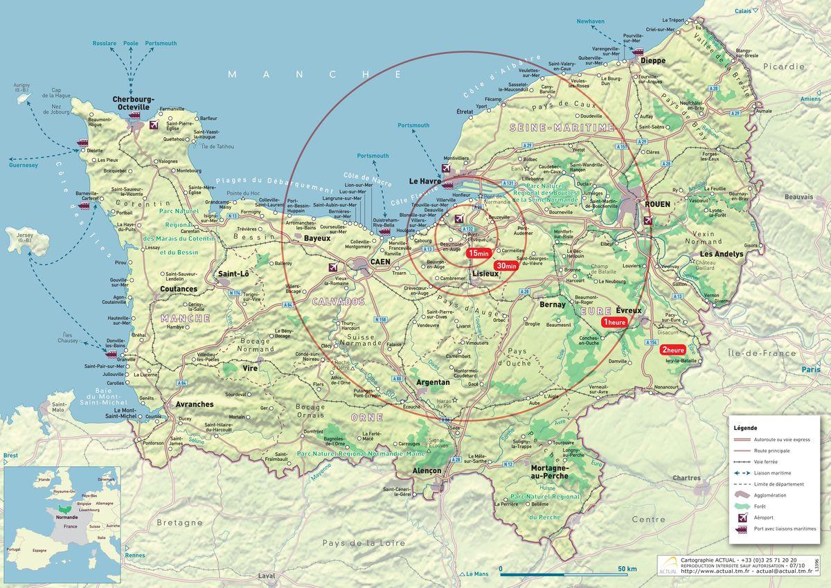 Carte-normandie